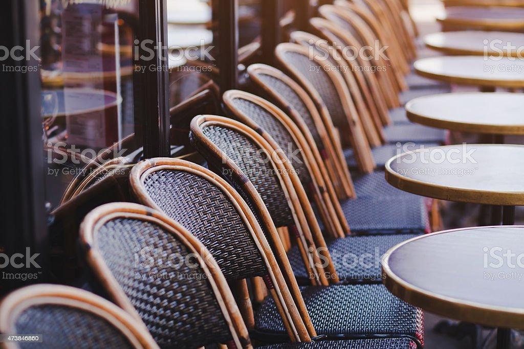 street cafe in Paris stock photo