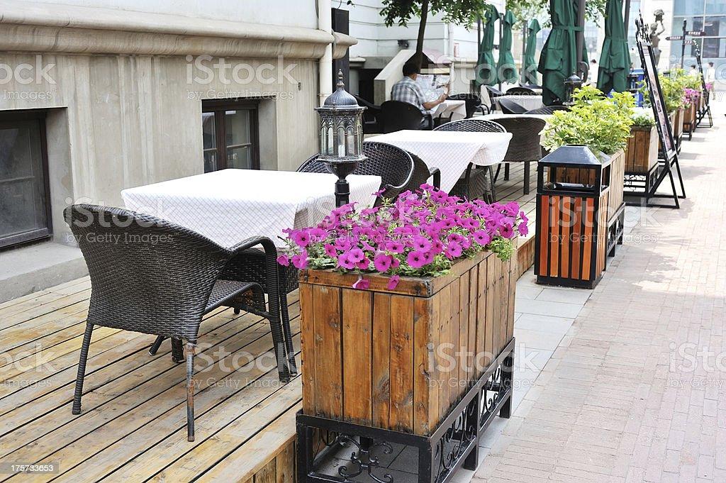 street cafe stock photo