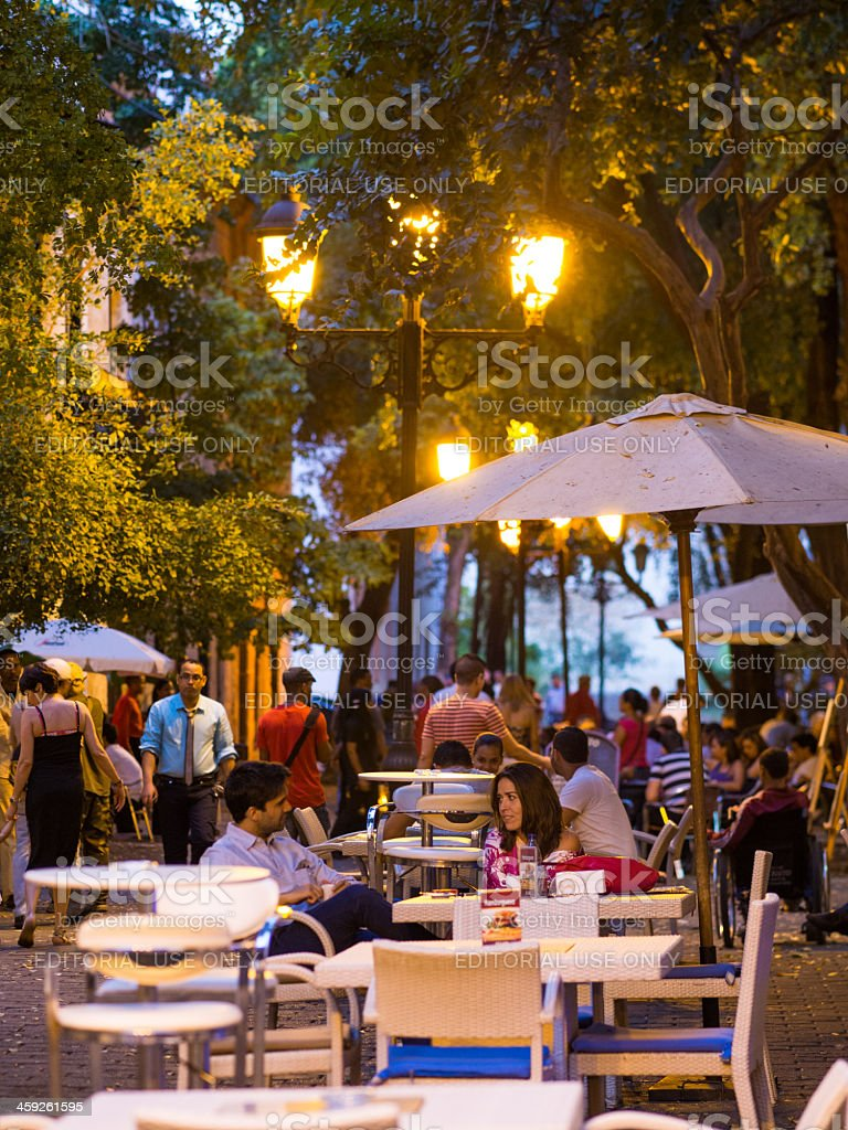 Street cafes Santo Domingo, Dominican Republic royalty-free stock photo