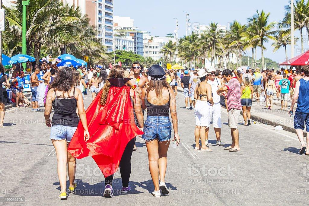 Street carnival crowd. royalty-free stock photo