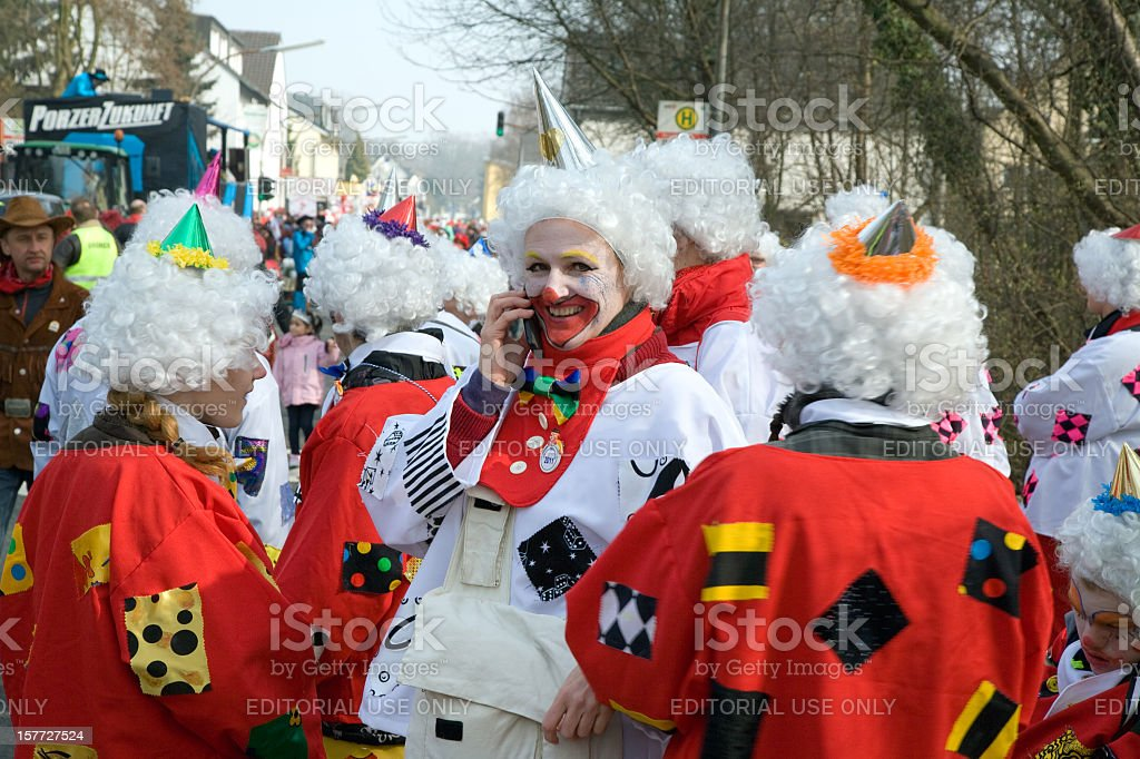 Street carnival in a suburb of Cologne. stock photo
