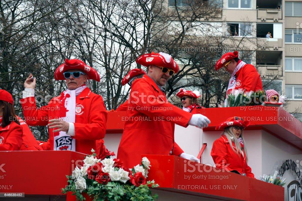 Street carnival in Cologne - Porz stock photo