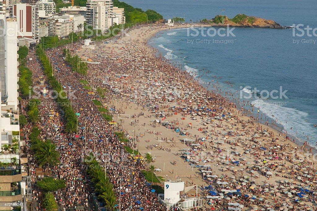 Street Carnival in Rio stock photo