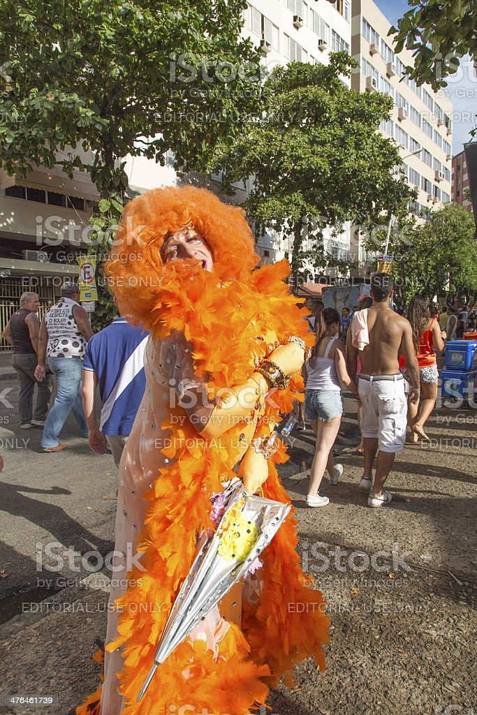 Street Carnival in Rio royalty-free stock photo