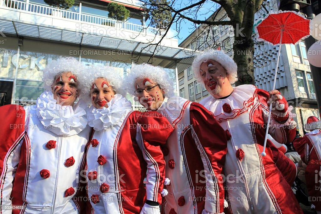 street carnival on Koenigsallee in Dusseldorf stock photo