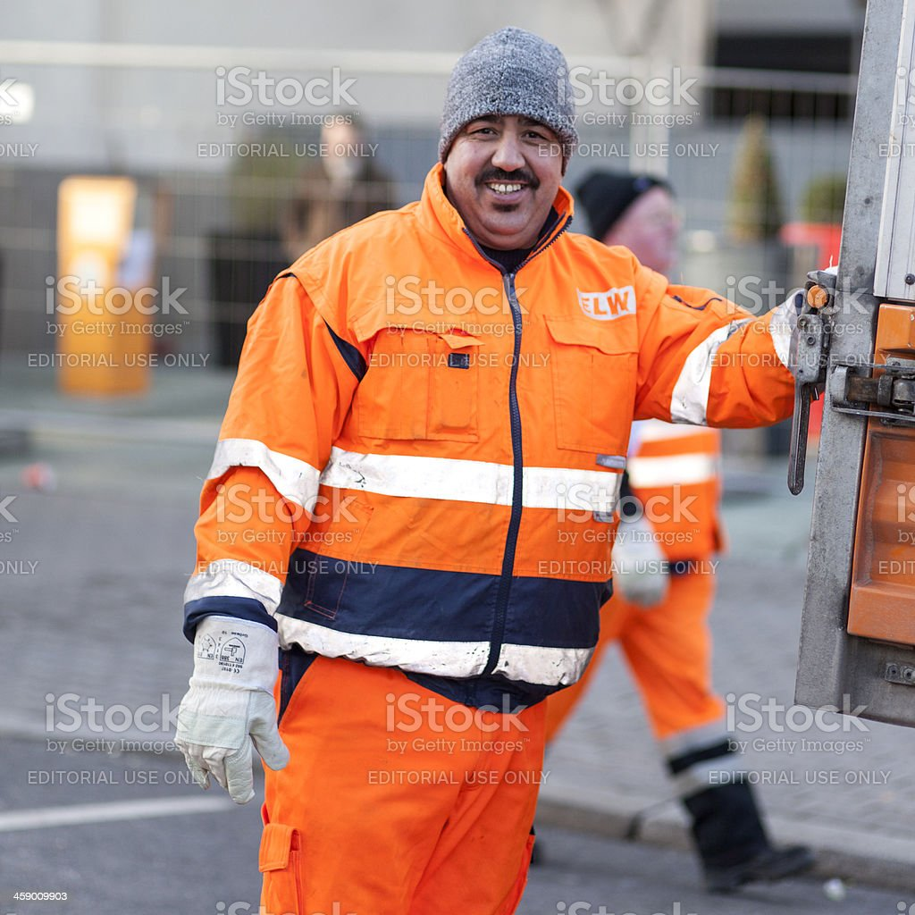 Street cleaner royalty-free stock photo