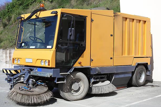 Street Cleaner Truck Modern street sweeper cleaner truck street sweeper stock pictures, royalty-free photos & images