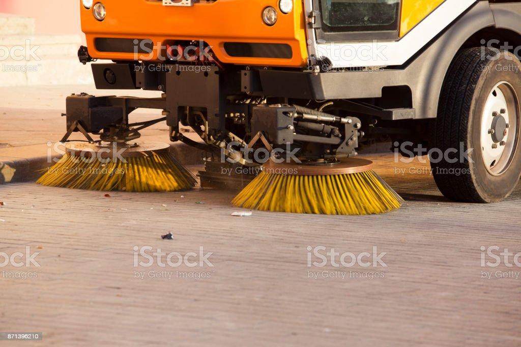 Street cleaner vehicle stock photo