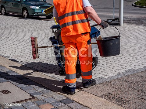 Street cleaning in the city