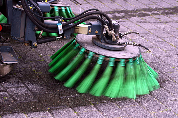 Street cleaning  street sweeper stock pictures, royalty-free photos & images