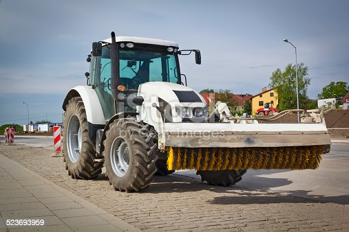 istock Street cleaning vehicle 523693959
