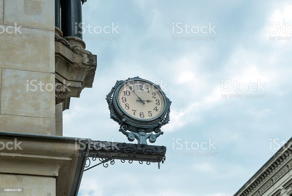Street clock in the style of 'retro' royalty-free stock photo