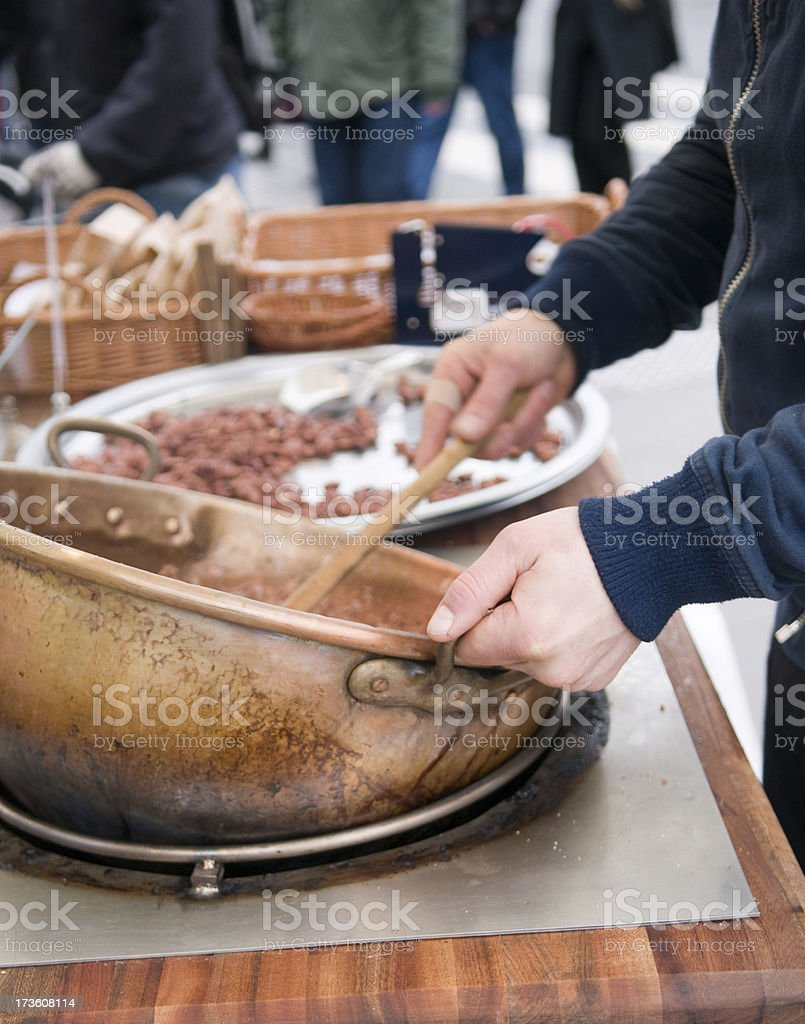 Street cooking. royalty-free stock photo