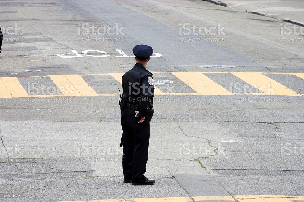 Street Cop royalty-free stock photo