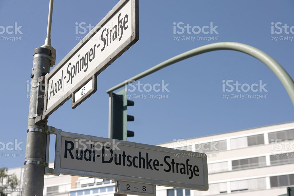 Street corner in Berlin stock photo