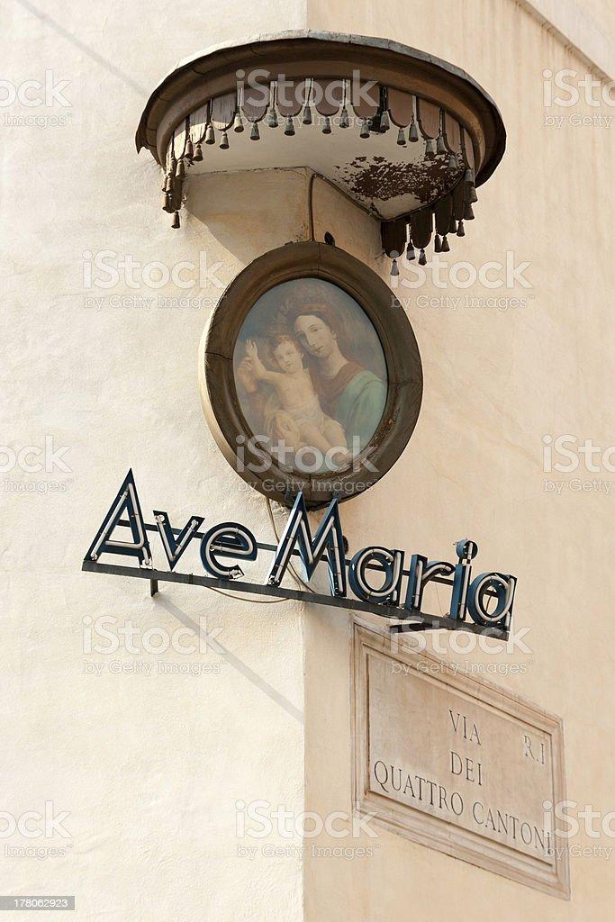 Street corner in Rome, Italy stock photo