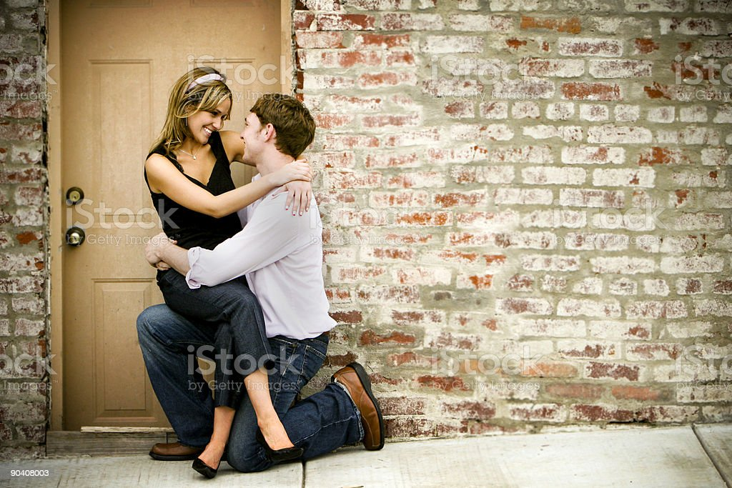 street couple portraits royalty-free stock photo