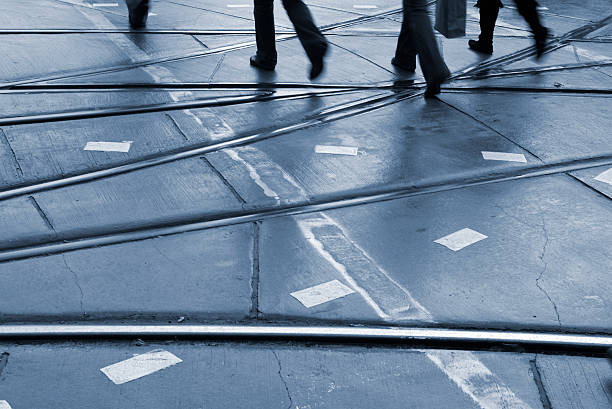 Street Crossers stock photo
