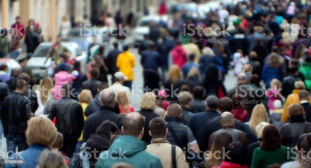 Street Menge – Foto