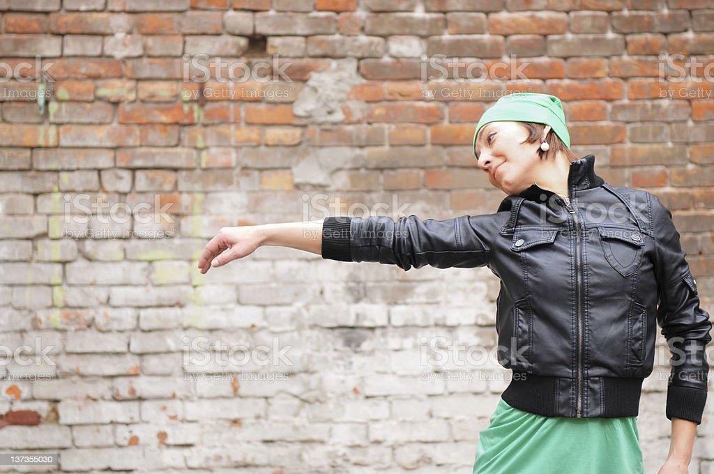 Street dancer stock photo