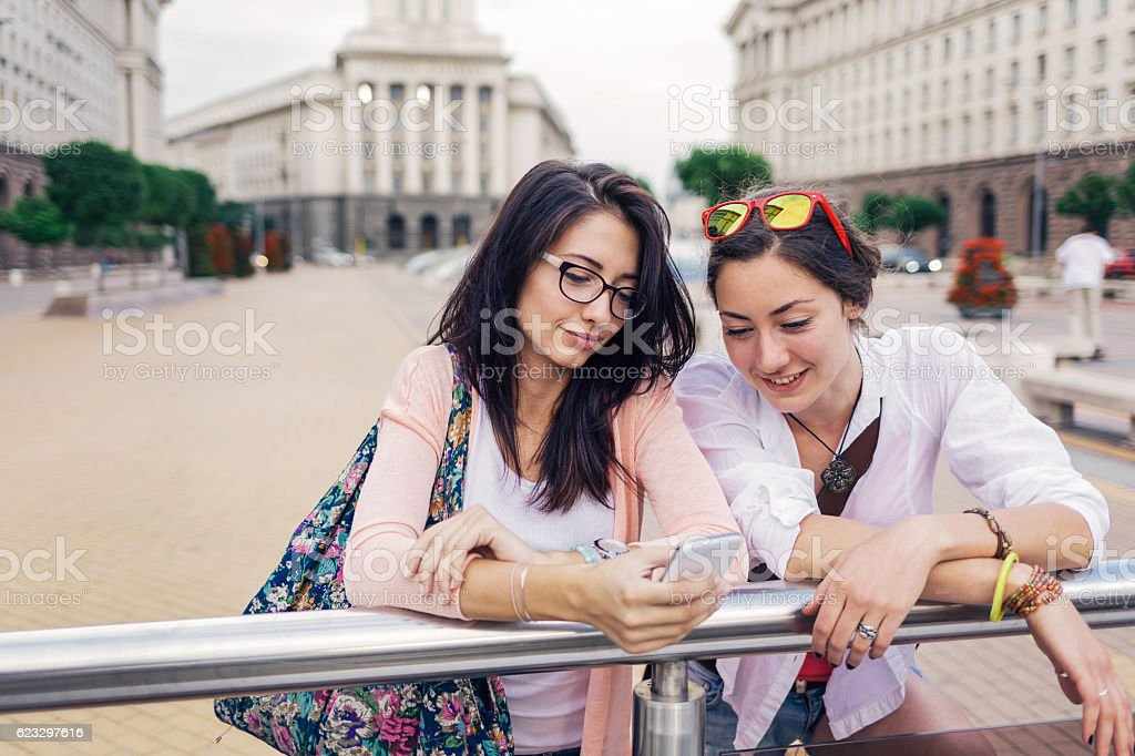 Street entertainment stock photo
