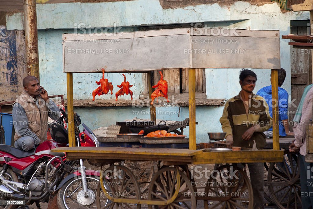 street fast food stand at agra india royalty-free stock photo