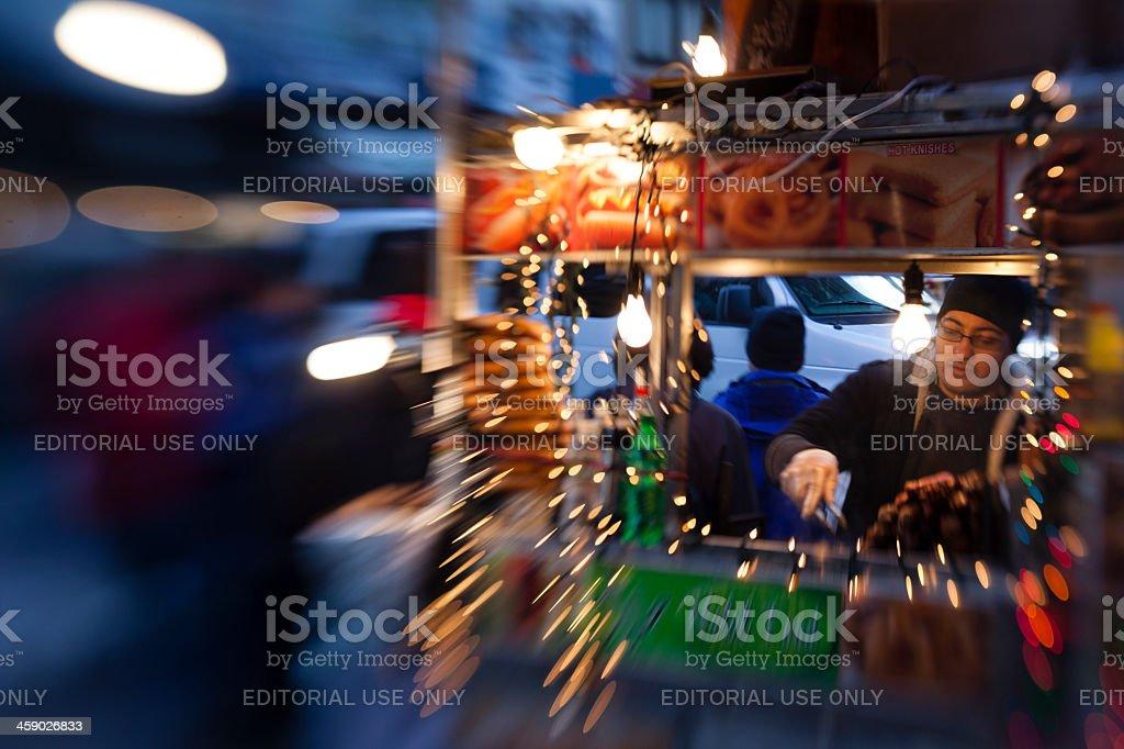 Street fastfood seller in Manhattan. royalty-free stock photo
