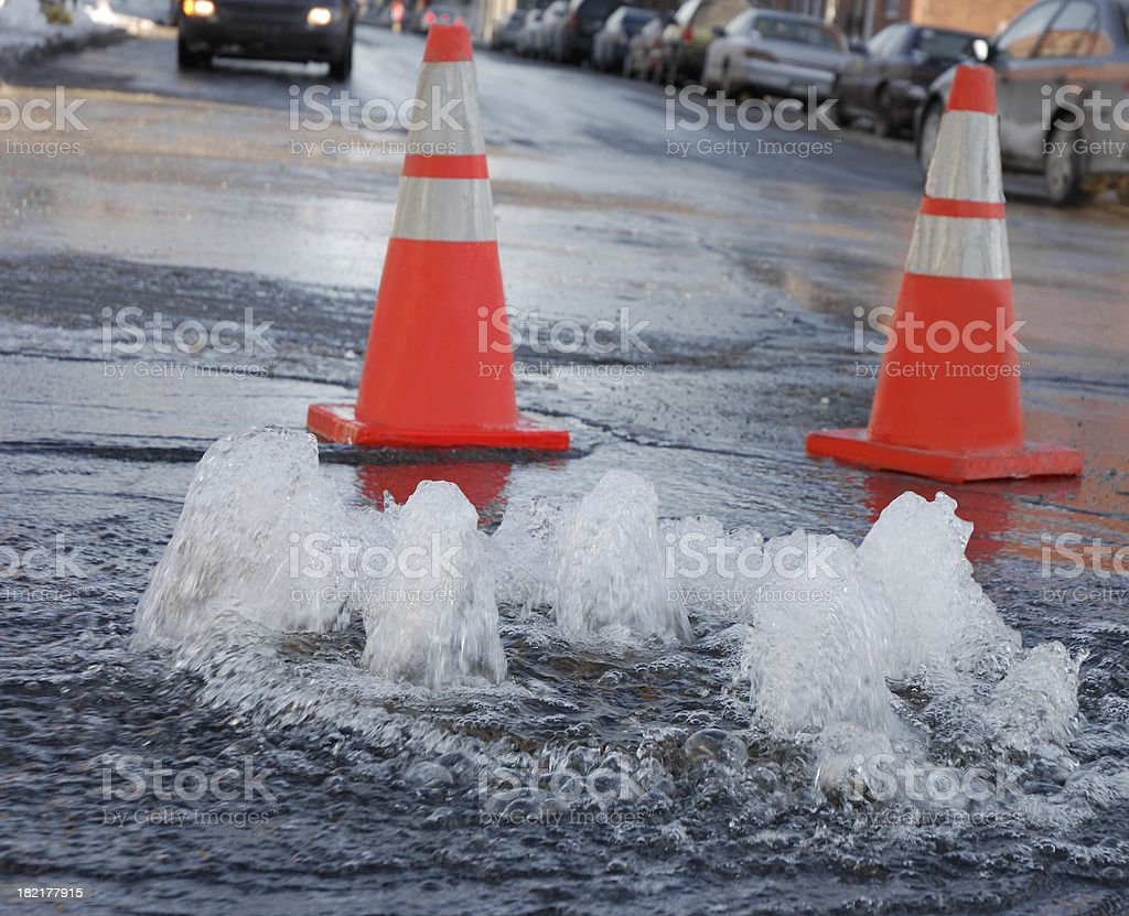 Street flooding. royalty-free stock photo