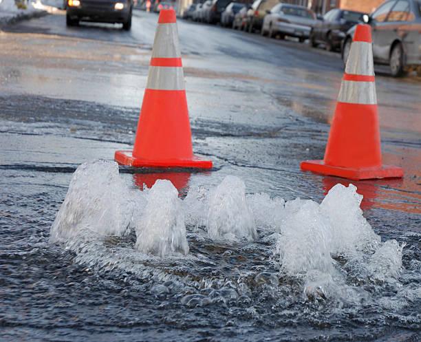 Street flooding. stock photo