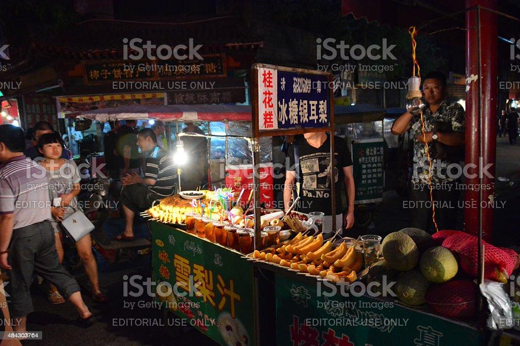 Street food China- food stall China stock photo