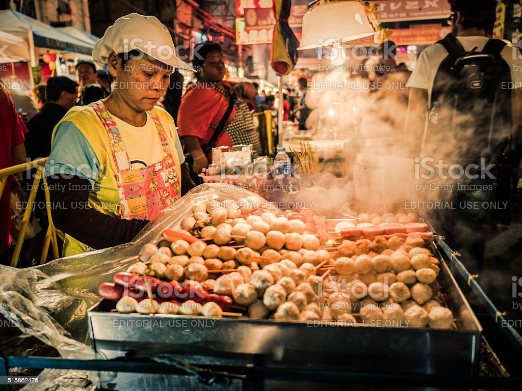 Street food Chinatown Bangkok stock photo