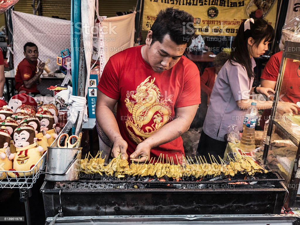 Street food Chinatown Bangkok Thailand stock photo