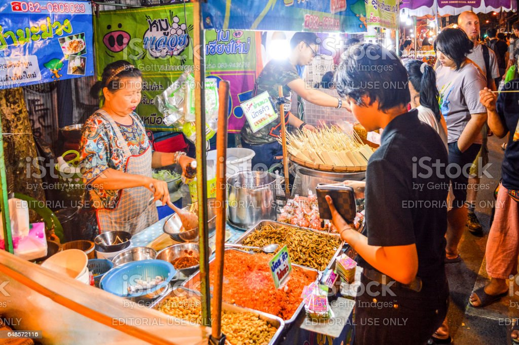 Street food in Chiang Mai, Thailand stock photo