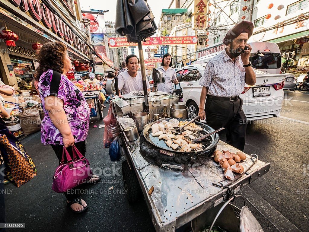 Street food in Chinatown Bangkok Thailand stock photo