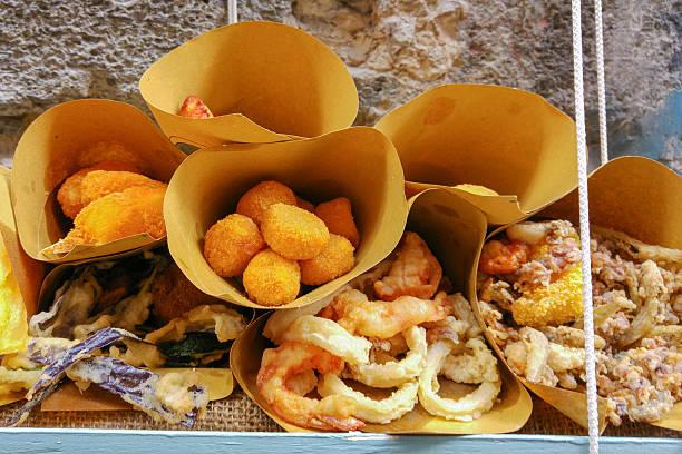 Street Food in Naples, Italy stock photo