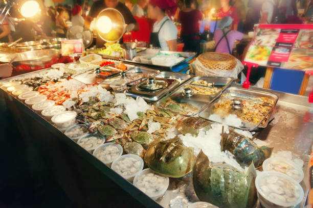 Street food in Thailand stock photo