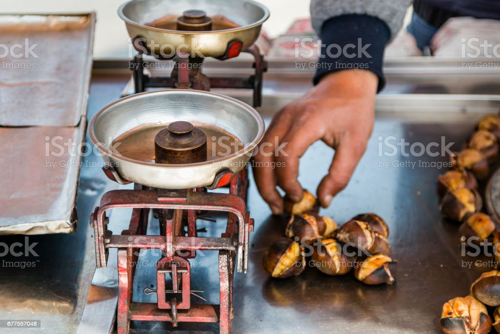Street food -measure weight royalty-free stock photo