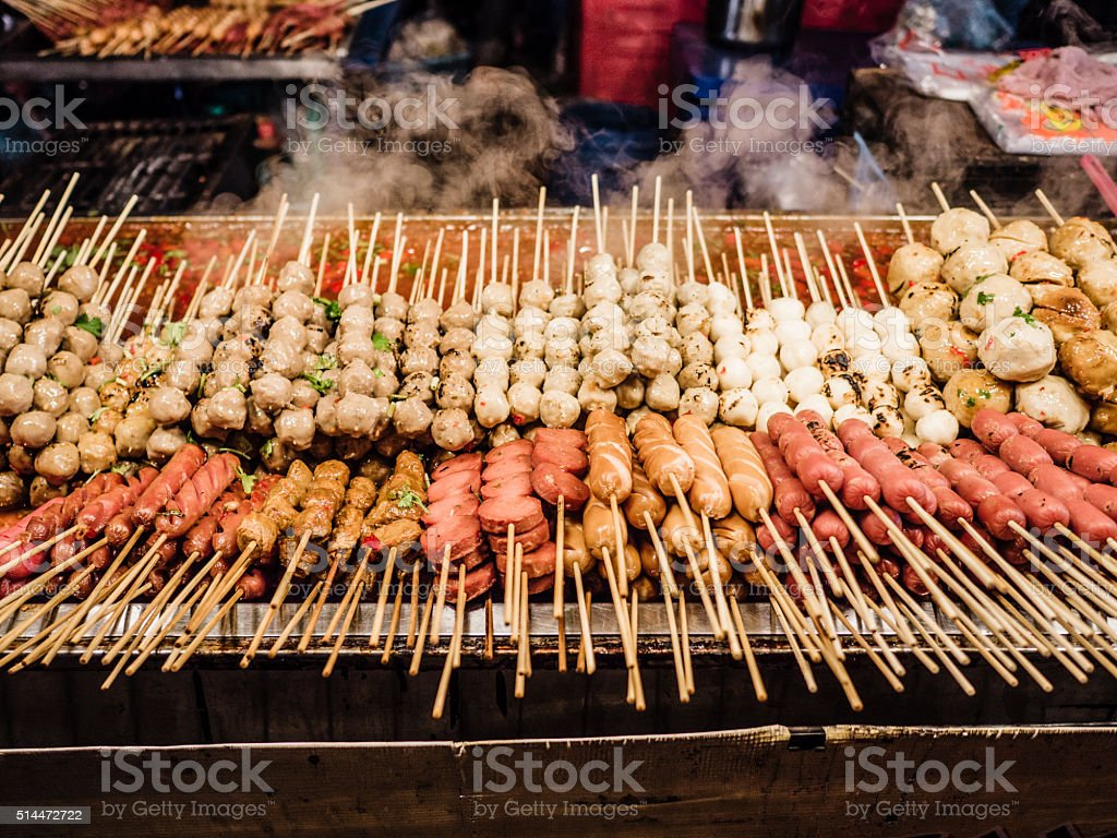 Straße Lebensmittelmarktstand Chinatown Bangkok Stock-Fotografie und ...
