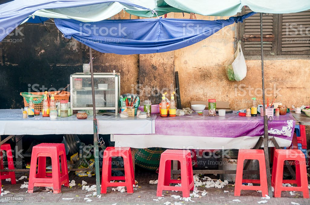 Street Food Stall In Cambodia royalty-free stock photo