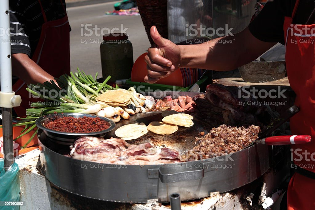 Street Food Tacos in Mexico city Street Food Tacos in Mexico city, Mexico. Capital Cities Stock Photo
