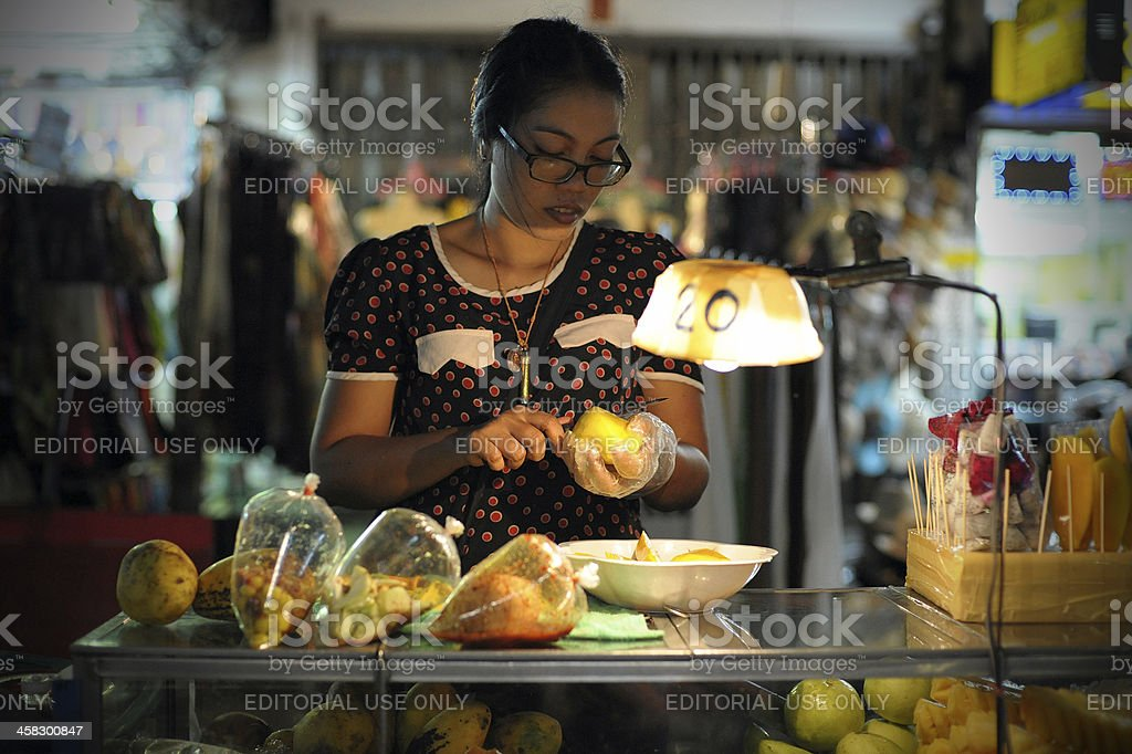 Street Food Vendor in Bangkok stock photo