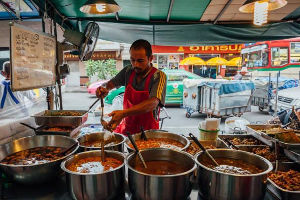 Street food vendor in Bangkok, Thailand stock photo