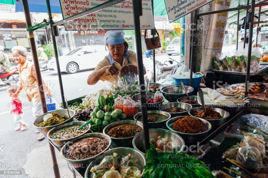 Street food vendor in Bangkok, Thailand stock photo