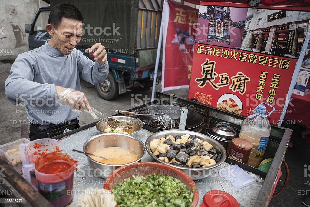 Street Food Vendor in Southern China stock photo