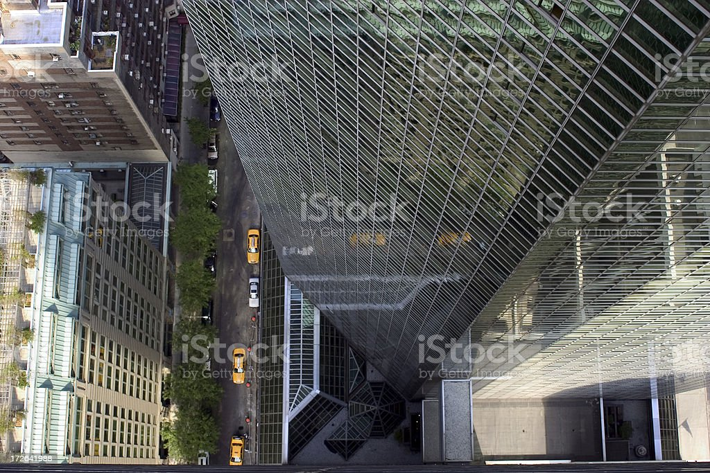 street from above (horizontal format) royalty-free stock photo