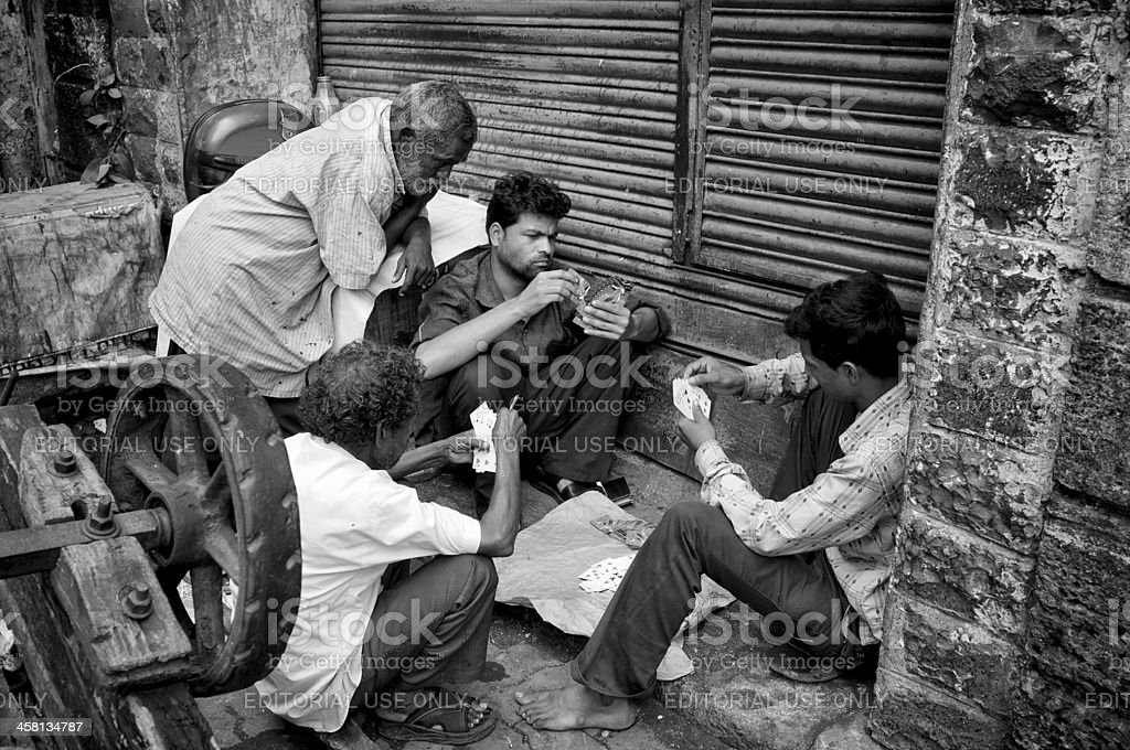 Street Gamblers stock photo