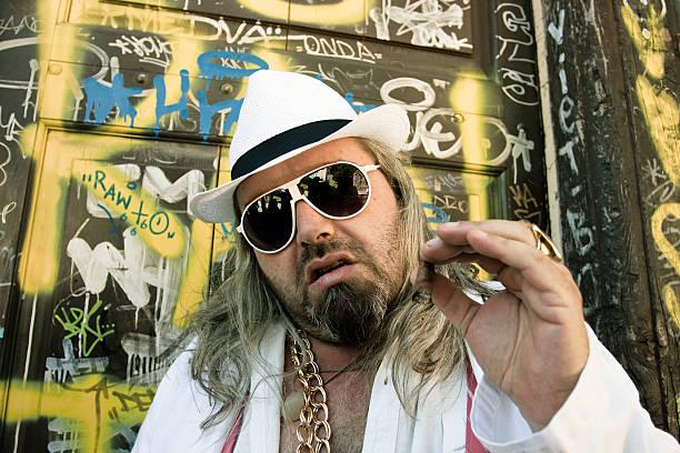 street gangster porträt - pimp stock-fotos und bilder