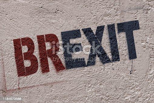 506166130 istock photo Street Graffiti Stencil (Brexit) 1184670588