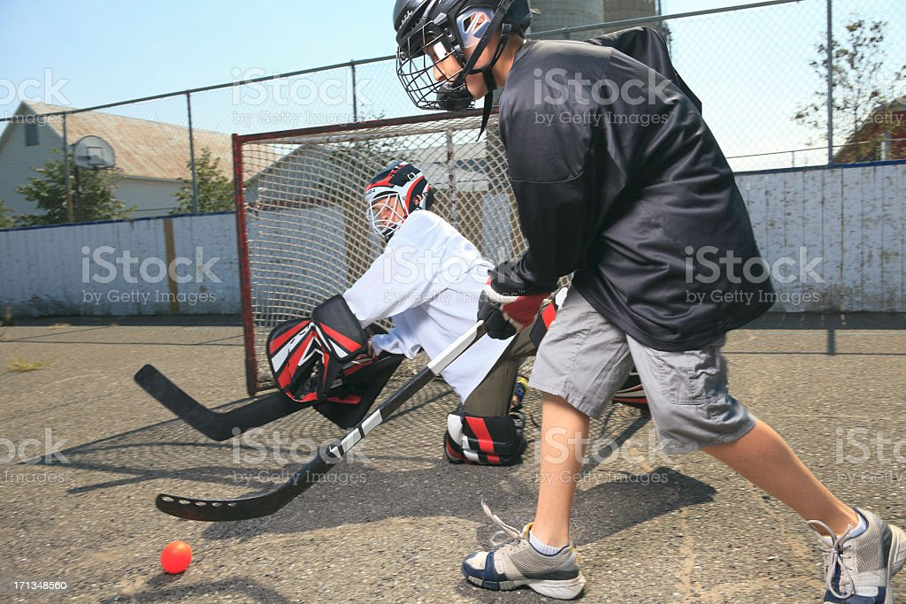 Street Hockey - Action stock photo