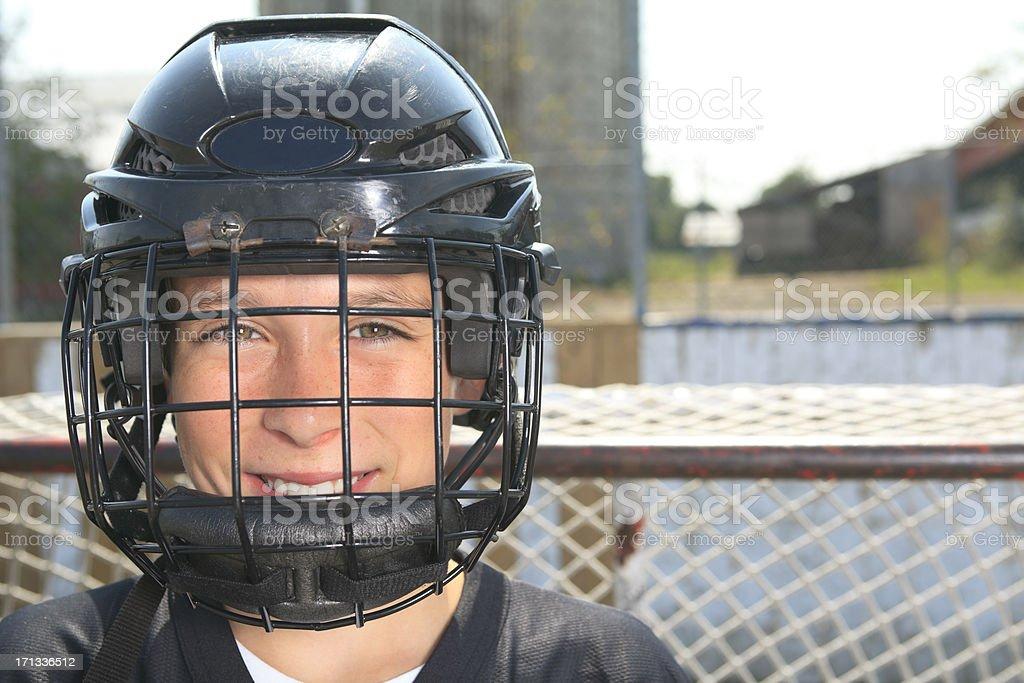 Street Hockey - Front Player stock photo
